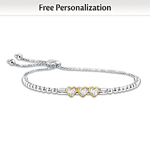 """I Love You Always"" Personalized Daughter Bracelet"
