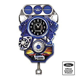 Ford Mustang Car Wall Clock With Lights, Motion And Sound