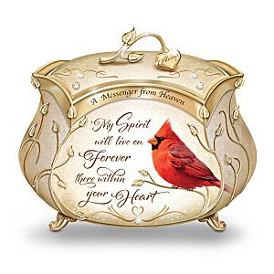 James Hautman Cardinal Heirloom Porcelain Music Box
