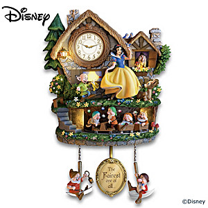 Disney Snow White Illuminated Wall Clock With Motion