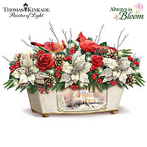 """Thomas Kinkade """"Treasures Of The Season"""" Lighted Centerpiece"""