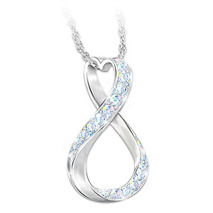 """Sisters Forever"" Women's Sterling Silver Pendant Necklace"