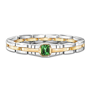 Force Of Nature Men's Bracelet Featuring A 3-Carat Helenite