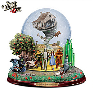 The LAND OF OZ Glitter Globe with Motion and Music
