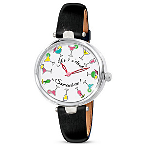 """""""5 O'Clock Somewhere"""" Women's Watch With Rotating Dial"""