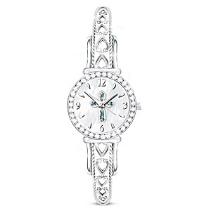 """Heavenly Grace"" Crystal Watch Featuring Mother Of Pearl"