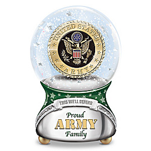 Proud U.S. Army Family Musical Glitter Globe