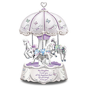 """Daughter, I Wish You"" Illuminated Carousel Music Box"