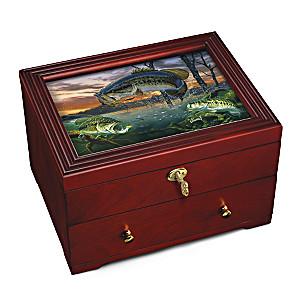 """Freshwater Legend"" Wooden Keepsake Box with Al Agnew Art"
