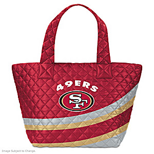 San Francisco 49ers Nylon Quilted Tote Bag