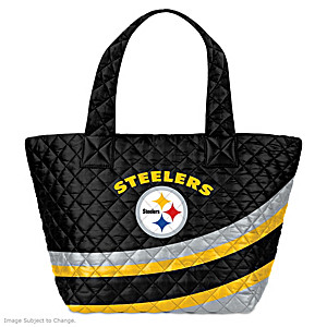 Pittsburgh Steelers Nylon Quilted Tote Bag