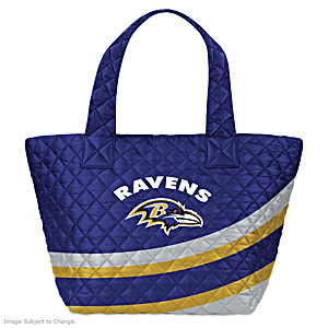 Baltimore Ravens Nylon Quilted Tote Bag