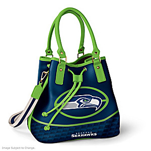 Seattle Seahawks Bucket Handbag With Team Logo