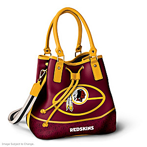 Washington Redskins Bucket Handbag With Team Logo