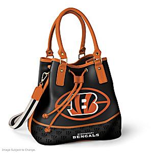 Cincinnati Bengals Bucket Handbag With Team Logo