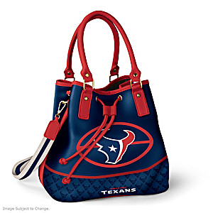 Houston Texans Bucket Handbag With Team Logo