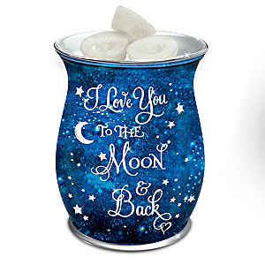 """""""I Love You To The Moon And Back"""" Porcelain Wax Warmer"""
