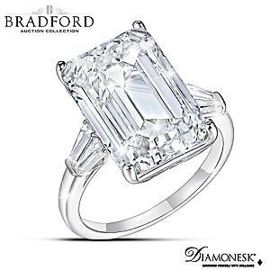 """Perfection"" Emerald Cut Diamonesk Simulated Diamond Ring"