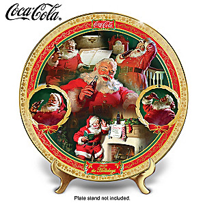 "COCA-COLA ""Holiday Treasures"" Porcelain Collector Plate"