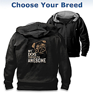 """Man's Best Friend"" Men's Hoodie: Choose Your Breed"