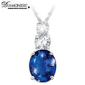 """Diana's Legacy Of Love"" Created Sapphire Pendant Necklace"