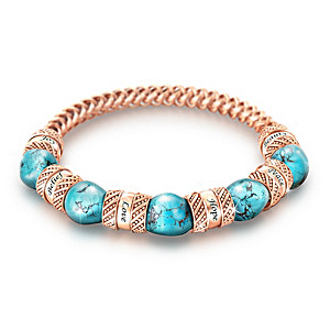 """Touch Of Heaven"" Turquoise And Copper Healing Bracelet"