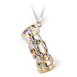 """""""You Color My World"""" Granddaughter Kaleidoscope Necklace"""