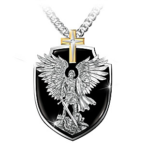 """Strength Of St. Michael"" Pendant Necklace For Grandson"