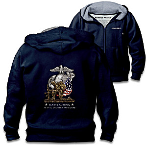 """U.S. Marines"" Men's Cotton-Blend Knit Hoodie"
