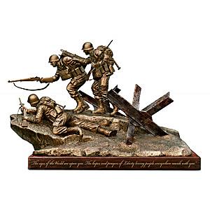 """""""Historic Landing: D-Day"""" Cold-Cast Bronze Tribute Sculpture"""