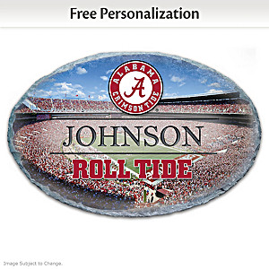 Alabama Crimson Tide Personalized Outdoor Welcome Sign