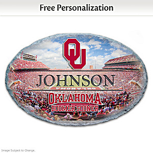 Oklahoma Sooners Personalized Outdoor Welcome Sign