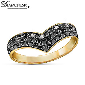 """Fashion Reigns"" Diamonesk Simulated Black Diamond Ring"