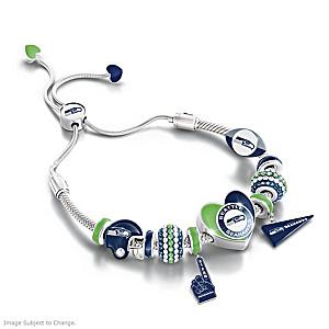 """Seahawks Spirit"" Bolo-Style Charm Bracelet"