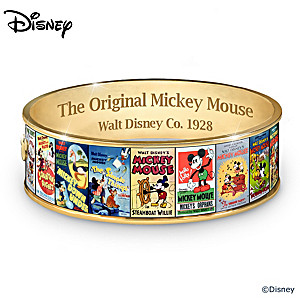 """Mickey Mouse's """"Greatest Moments"""" 18K Gold-Plated Bracelet"""