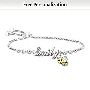 Always Bee Yourself Personalized Bracelet For Granddaughter