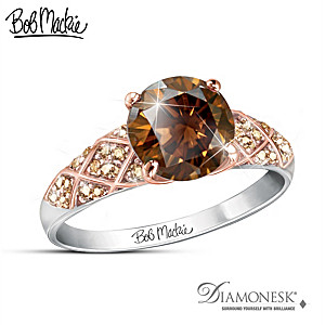 "Bob Mackie ""Mocha Splendor"" Women's Diamonesk Ring"
