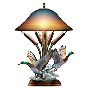 """""""Lake View"""" Masterpiece Sculpted Mallard Duck Lamp"""