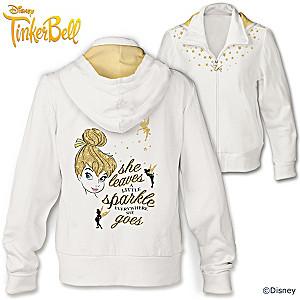 """Disney """"Tinker Bell Magic"""" Women's Front Zip Hoodie"""