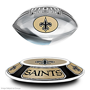 New Orleans Saints Levitating Football Lights Up And Spins