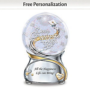 Graduation Musical Glitter Globe Personalized With Name