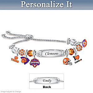 Clemson 2018 National Champions Personalized Bracelet