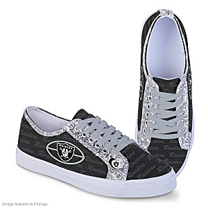 Raiders Women's Shoes With Glitter Trim