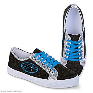 Carolina Panthers Glitter Women's Shoes