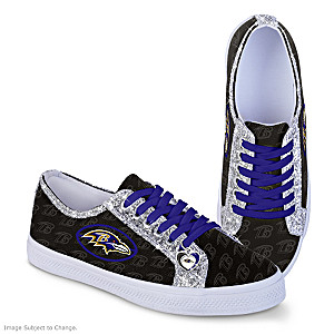 Baltimore Ravens Glitter Women's Shoes