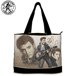 "Elvis ""Burning Love"" Women's Tote Bag With Heart Charm"
