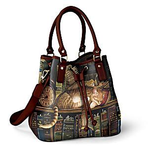 "Charles Wysocki ""Worth The Read"" Bucket-Style Handbag"