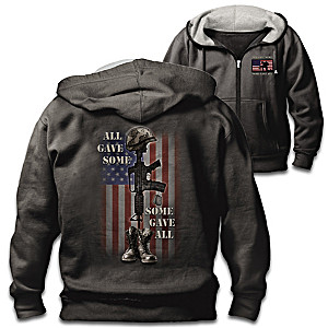 """All Gave Some"" Men's Patriotic Cotton Blend Hoodie"