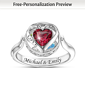 """Head Over Heels"" Personalized 2-In-1 Design Flip Ring"