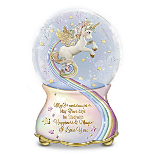 """My Granddaughter, You Are Magical"" Musical Glitter Globe"